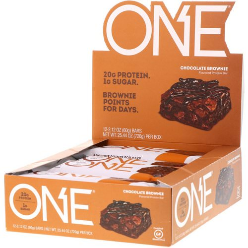 One Brands, One Bar, Chocolate Brownie, 12 Bars, 2.12 oz (60 g) Each Review