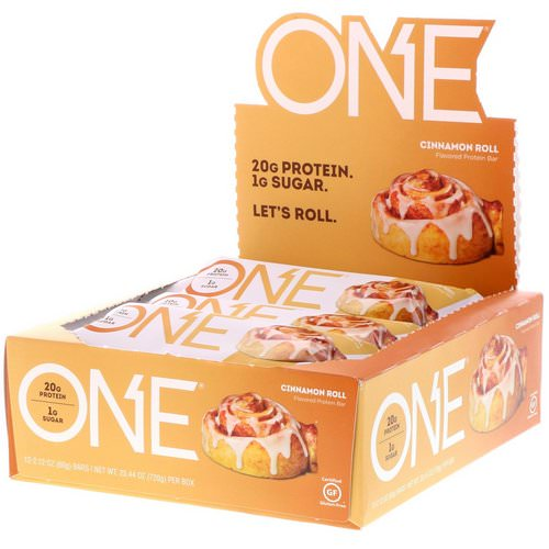 One Brands, One Bar, Cinnamon Roll, 12 Bars, 2.12 oz (60 g) Each Review