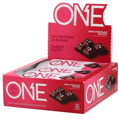 One Brands, One Bar, Dark Chocolate Sea Salt, 12 Bars, 2.12 oz (60 g) Each Review