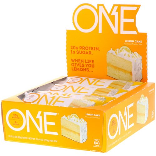 One Brands, One Bar, Lemon Cake, 12 Bars, 2.12 oz (60 g) Each Review