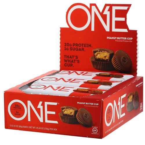One Brands, One Bar, Peanut Butter Cup, 12 Bars, 2.12 oz (60 g) Each Review