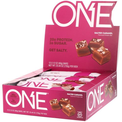 One Brands, One Bar, Salted Caramel, 12 Bars, 2.12 oz (60 g) Each Review
