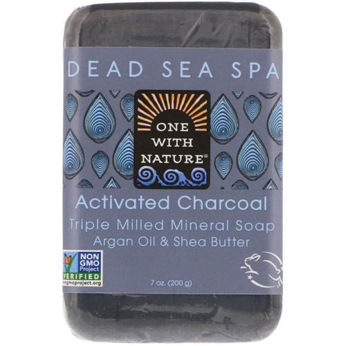 One with Nature, Triple Milled Mineral Soap Bar, Activated Charcoal, 7 oz (200 g) Review