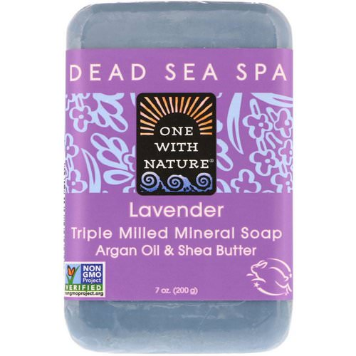 One with Nature, Triple Milled Mineral Soap Bar, Lavender, 7 oz (200 g) Review