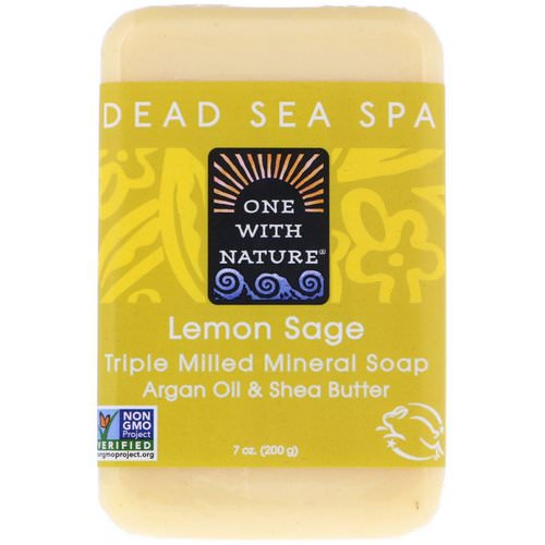 One with Nature, Triple Milled Mineral Soap Bar, Lemon Sage, 7 oz (200 g) Review