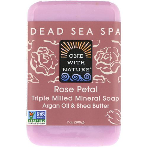 One with Nature, Triple Milled Mineral Soap Bar, Rose Petal, 7 oz (200 g) Review