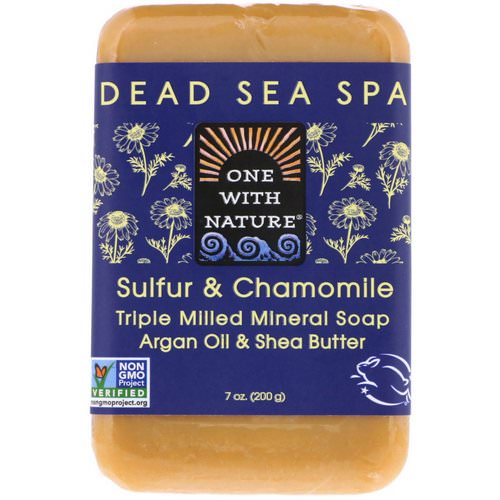 One with Nature, Triple Milled Mineral Soap Bar, Sulfur & Chamomile, 7 oz (200 g) Review
