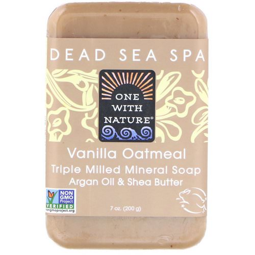 One with Nature, Triple Milled Mineral Soap, Vanilla Oatmeal, 7 oz (200 g) Review
