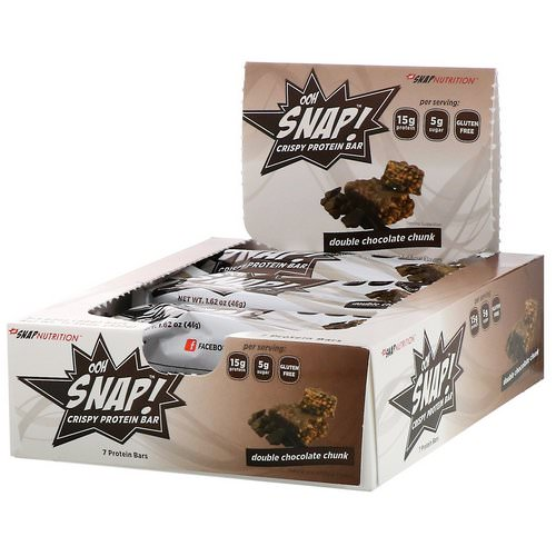 OOH Snap! Crispy Protein Bar, Double Chocolate Chunk, 7 Bars, 1.62 oz (46 g) Each Review