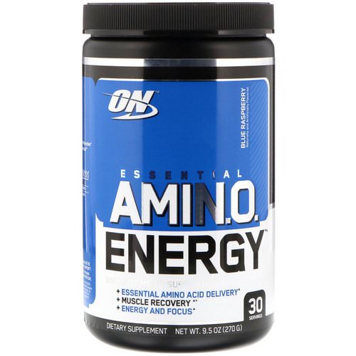 Optimum Nutrition, Essential Amin.O. Energy, Blue Raspberry, 9.5 oz (270 g) Review