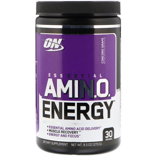 Optimum Nutrition, Essential Amin.O. Energy, Concord Grape, 9.5 oz (270 g) Review