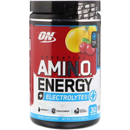 Optimum Nutrition, Essential Amin.O. Energy + Electrolytes, Cranberry Lemonade Breeze, 10.05 oz (285 g) Review