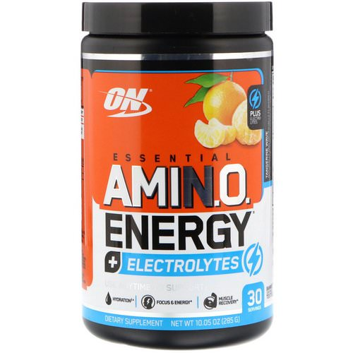 Optimum Nutrition, Essential Amin.O. Energy + Electrolytes, Tangerine Wave, 10.05 oz (285 g) Review