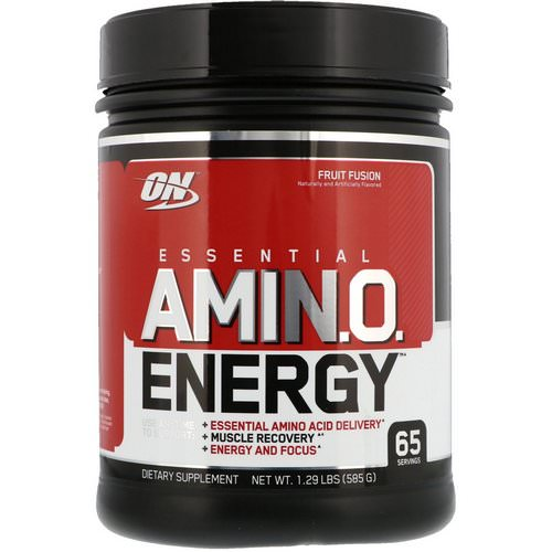 Optimum Nutrition, Essential Amin.O. Energy, Fruit Fusion, 1.29 lbs (585 g) Review
