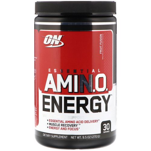 Optimum Nutrition, Essential Amin.O. Energy, Fruit Fusion, 9.5 oz (270 g) Review