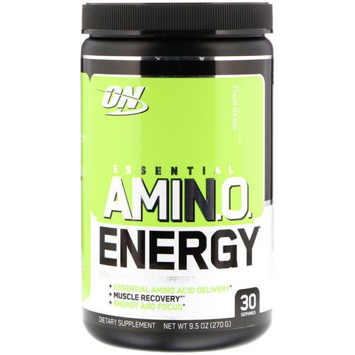 Optimum Nutrition, Essential Amin.O. Energy, Green Apple, 9.5 oz (270 g) Review