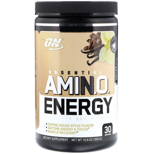 Optimum Nutrition, Essential Amin.O. Energy, Iced Cafe Vanilla Flavor, 10.6 oz (300 g) Review