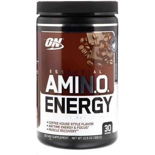 Optimum Nutrition, Essential Amin.O. Energy, Iced Mocha Cappucino Flavor, 10.6 oz (300 g) Review