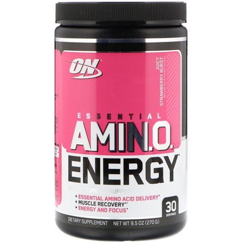 Optimum Nutrition, Essential Amin.O. Energy, Juicy Strawberry Burst, 9.5 oz (270 g) Review