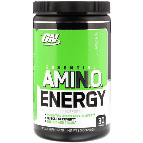 Optimum Nutrition, Essential Amin.O. Energy, Lemon Lime, 9.5 oz (270 g) Review