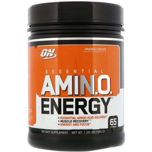 Optimum Nutrition, Essential Amin.O. Energy, Orange Cooler, 1.29 lbs (585 g) Review