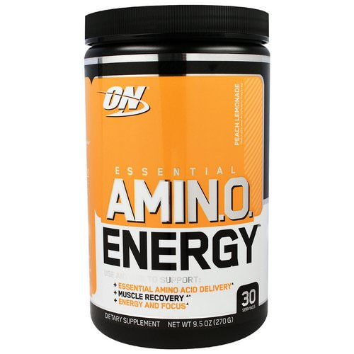 Optimum Nutrition, Essential Amin.O. Energy, Peach Lemonade, 9.5 oz (270 g) Review