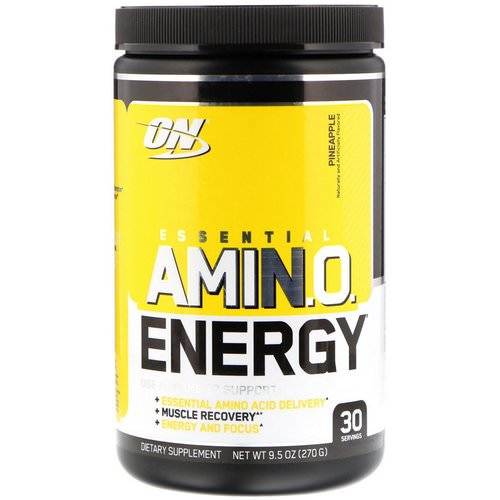 Optimum Nutrition, Essential Amin.O. Energy, Pineapple, 9.5 oz (270 g) Review