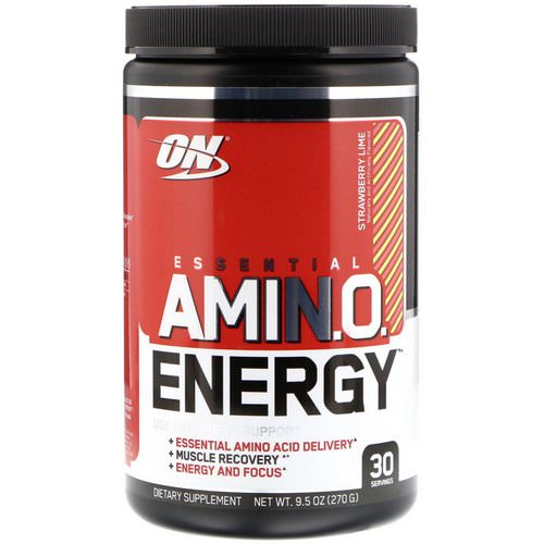 Optimum Nutrition, Essential Amin.O. Energy, Strawberry Lime, 9.5 oz (270 g) Review