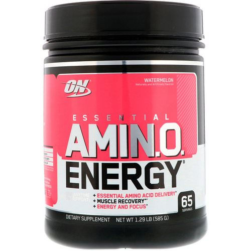Optimum Nutrition, Essential Amin.O. Energy, Watermelon, 1.29 lb (585 g) Review
