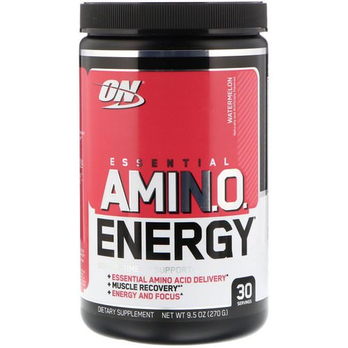 Optimum Nutrition, Essential Amin.O. Energy, Watermelon, 9.5 oz (270 g) Review