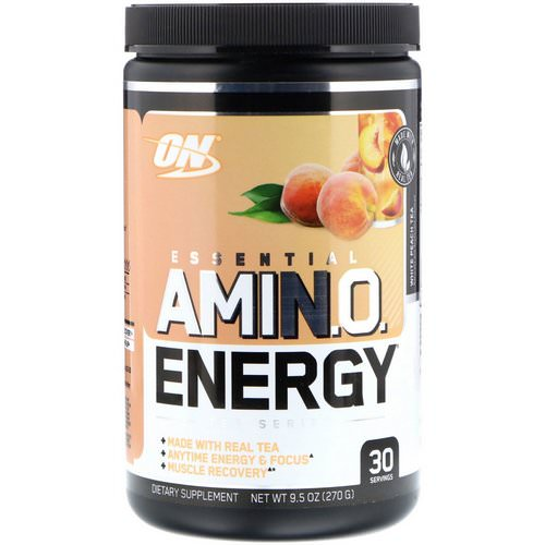 Optimum Nutrition, Essential Amin.O. Energy, White Peach Tea, 9.5 oz (270 g) Review