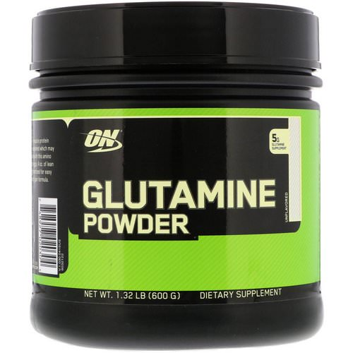 Optimum Nutrition, Glutamine Powder, Unflavored, 1.32 lb (600 g) Review