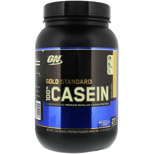 Optimum Nutrition, Gold Standard, 100% Casein, Banana Cream, 2 lbs (909 g) Review