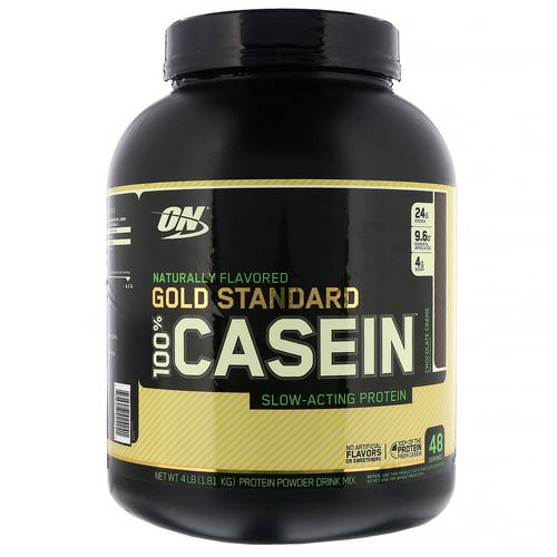 Optimum Nutrition, Gold Standard, 100% Casein, Naturally Flavored, Chocolate Creme, 4 lbs (1.81 kg) Review