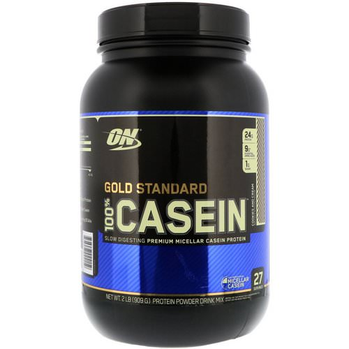 Optimum Nutrition, Gold Standard, 100% Casein, Cookies and Cream, 2 lbs (909 g) Review