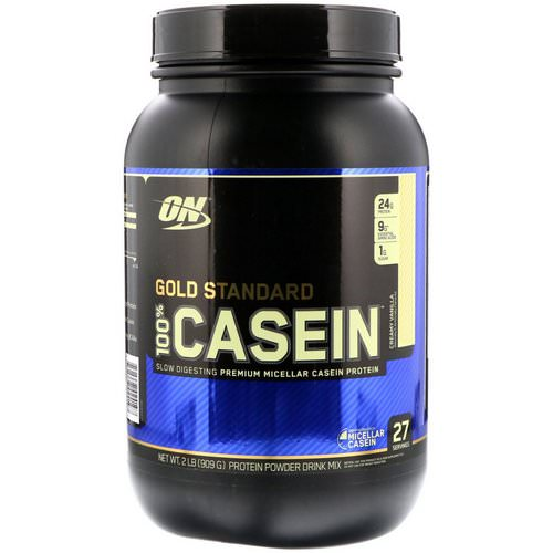 Optimum Nutrition, Gold Standard, 100% Casein, Creamy Vanilla, 2 lbs (909 g) Review