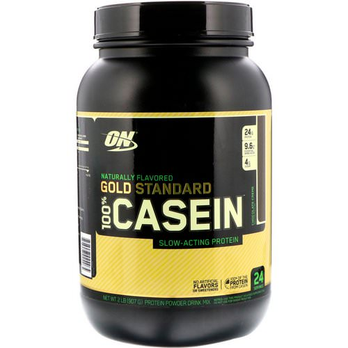 Optimum Nutrition, Gold Standard, 100% Casein, Naturally Flavored, Chocolate Creme, 2 lbs (907 g) Review