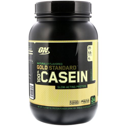 Optimum Nutrition, Gold Standard, 100% Casein, Naturally Flavored, French Vanilla, 2 lbs (907 g) Review