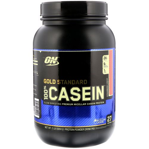 Optimum Nutrition, Gold Standard, 100% Casein, Strawberry Cream, 2 lbs (909 g) Review