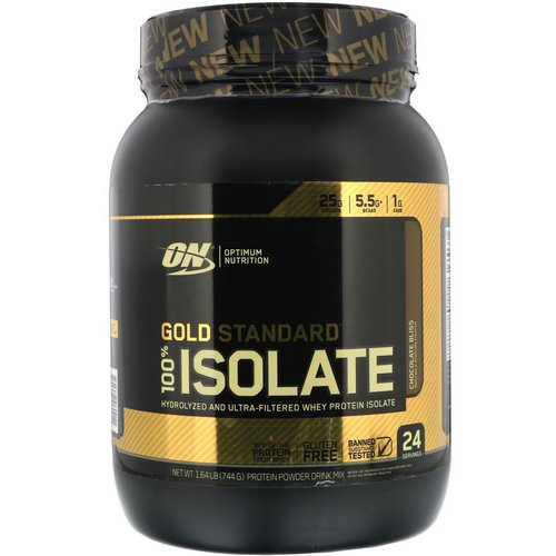 Optimum Nutrition, Gold Standard, 100% Isolate, Chocolate Bliss, 1.64 lb (744 g) Review