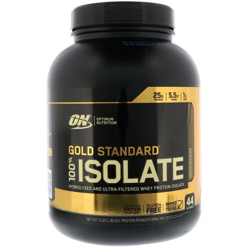 Optimum Nutrition, Gold Standard, 100% Isolate, Chocolate Bliss, 3 lb (1.36 kg) Review