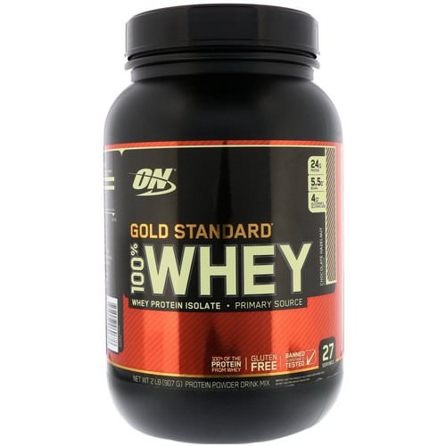Optimum Nutrition, Gold Standard, 100% Whey, Chocolate Hazelnut, 2 lb (907 g) Review