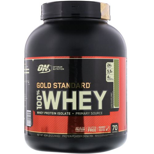 Optimum Nutrition, Gold Standard, 100% Whey, Chocolate Mint, 4.94 lbs (2.24 kg) Review