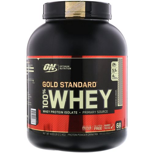 Optimum Nutrition, Gold Standard, 100% Whey, Cookies & Cream, 4.63 lbs (2.1 kg) Review