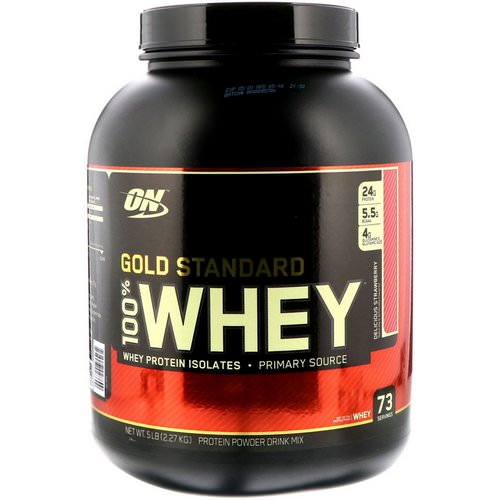Optimum Nutrition, Gold Standard, 100% Whey, Delicious Strawberry, 5 lbs (2.27 kg) Review