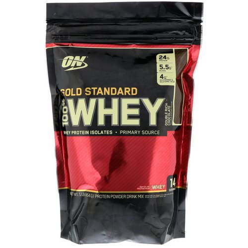 Optimum Nutrition, Gold Standard, 100% Whey, Double Rich Chocolate, 1 lb (454 g) Review