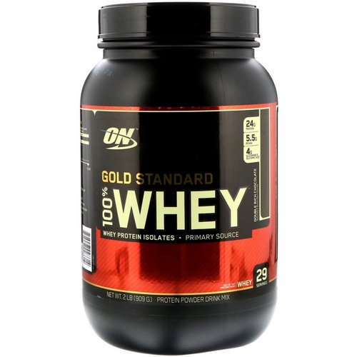 Optimum Nutrition, Gold Standard, 100% Whey, Double Rich Chocolate, 2 lb (909 g) Review