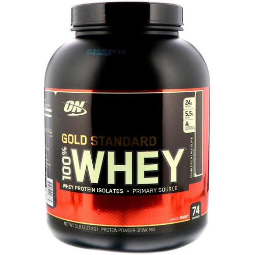Optimum Nutrition, Gold Standard, 100% Whey, Double Rich Chocolate, 5 lbs (2.27 kg) Review