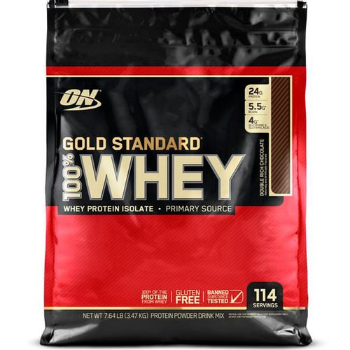 Optimum Nutrition, Gold Standard, 100% Whey, Double Rich Chocolate, 7.64 lb (3.47 kg) Review