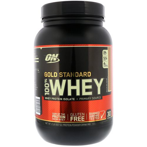 Optimum Nutrition, Gold Standard, 100% Whey, Dulce De Leche, 2 lbs (907 g) Review